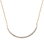 August Woods Rose Gold Half Moon Crystal Necklace