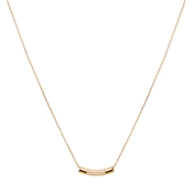 August Woods Rose Gold Bar Necklace