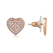 August Woods Rose Gold Heart Stud Earrings