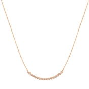 Dirty Ruby Outlet Rose Gold Rounded Bar Necklace