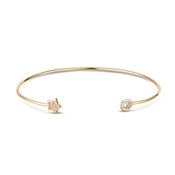 Dirty Ruby Rose Gold Star Bangle