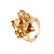 August Woods Outlet  Rose Gold Large Topaz Ring