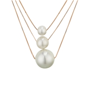 August Woods Outlet  Rose Gold Layered Pearl Necklace
