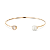 August Woods Rose Gold Pearl Torque Bangle