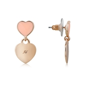 August Woods Outlet  Rose Gold Peach Heart Earrings