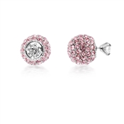 August Woods Outlet  Rose Crystal Front & Back Earrings