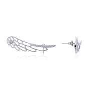 Dirty Ruby Outlet Silver Single Wing Ear Cuff
