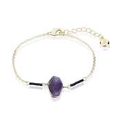 Dirty Ruby Outlet Gold & Amethyst Bracelet