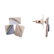 August Woods Rose Gold Abstract Stud Earrings