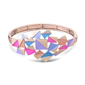 August Woods Rose Gold Geometric Squares Bracelet