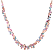 August Woods Rose Gold Geometric Squares Necklace