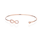 Dirty Ruby Rose Gold Infinity Bangle