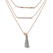 Dirty Ruby Outlet Rose Gold Layered Boho Necklace
