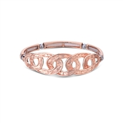 August Woods Rose Gold Marble Circles Bracelet