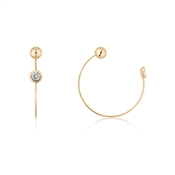 Dirty Ruby Outlet Gold Pull Through Earrings