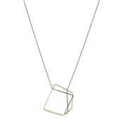 Dirty Ruby Graphic Square Necklace