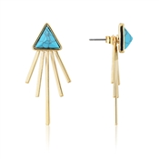 Dirty Ruby Outlet Turquoise Triangle Ear Jackets