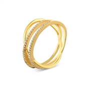 Argento Outlet Gold Pave Wrap CZ Ring