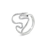 Argento Outlet Pave Wave CZ Ring
