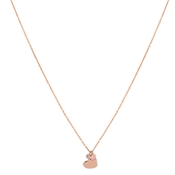 Argento Sparkling Rose Gold Opal Heart Necklace