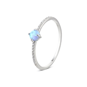 Argento Silver Crystal Opal Ring