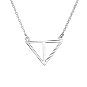 Argento Open Triangle Necklace  18""