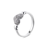 Argento Outlet Cushion Heart Pave Ring