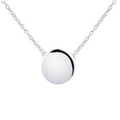 Argento Plain Circle Necklace