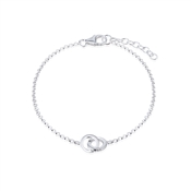 Interlinking Circle Bracelet by Argento