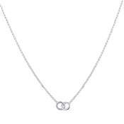 Argento Interlinking Circle Necklace