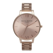 Olivia Burton Rose Gold Big Dial Bracelet Watch