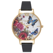 Olivia Burton Enchanted Garden Butterflies Black and Gold