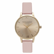 Olivia Burton Midi Dial Dusty Pink And Gold Watch