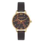 Olivia Burton Midi Dial Tortoiseshell Black and Gold