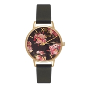 Olivia Burton Winter Garden Midi Rose Black and Gold