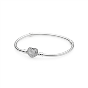 Pandora Pavé Heart Moments Silver Bracelet