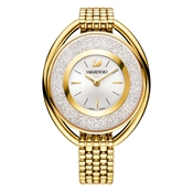 Swarovski Crystalline Oval Gold Bracelet Watch