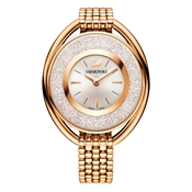 Swarovski Crystalline Oval Rose Gold Watch