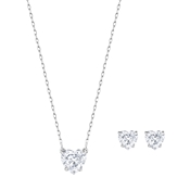Swarovski Attract Clear Heart Gift Set