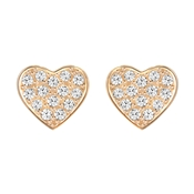 Swarovski Cupid Rose Gold Earrings