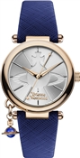 Vivienne Westwood Rose Gold & Blue Orb Pop Watch