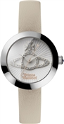 Vivienne Westwood Silver & Cream Queensgate Watch