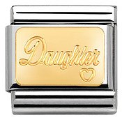 Nomination  Gold Daughter Charm
