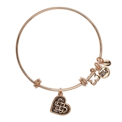 Karma Rose Gold Knotted Heart Bangle