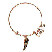 Karma Rose Gold Wing Bangle