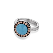 Coeur De Lion  Rose Gold & Blue Pearl Ring
