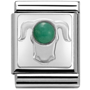 Nomination Big Emerald Taurus Charm