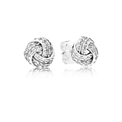 Pandora Sparkling Love Knot Stud Earrings