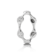 Pandora White Gold Six Diamond Ring
