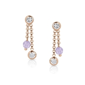 Nomination  Bella Rose Gold Lilac & CZ Earrings